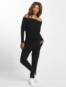 DEF Frauen Jumpsuit Stretch in schwarz