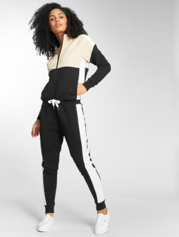DEF Quad Jump Suit Beige Black