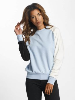 DEF Pullover Colorblocking blau