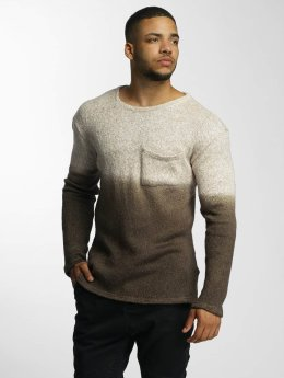 DEF Pullover Dip-Dye braun