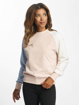 DEF Frauen Pullover Colorblocking in rosa