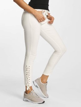 DEF Skinny Jeans Strap bialy