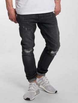 DEF Slim Fit Jeans Destroyed grau