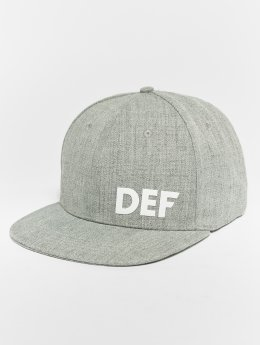 DEF snapback cap Logo grijs