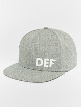DEF Snapback Caps Logo šedá