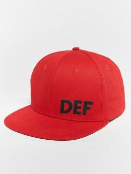 DEF Snapback Caps Logo czerwony