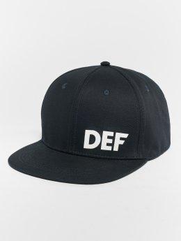 DEF Snapback Caps Logo modrý