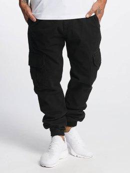 DEF Spodnie Chino/Cargo Kindou  czarny