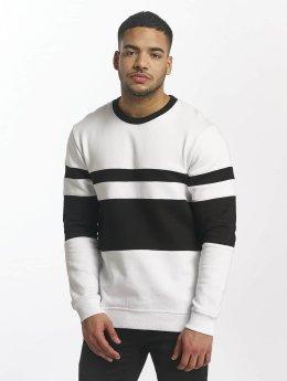 DEF Sweat & Pull Striped blanc