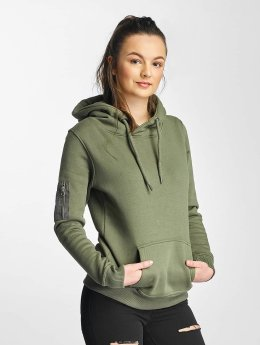 DEF | Upper Arm Pocket olive Femme Sweat capuche