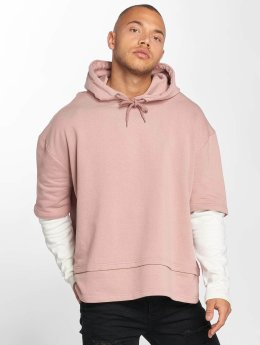 DEF Sweat capuche Layers rose