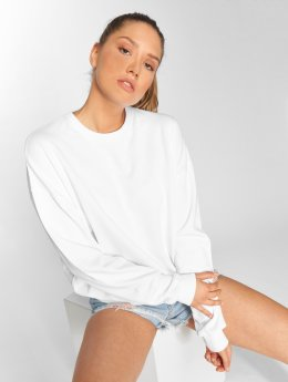 DEF Swetry Sweatshirt bialy