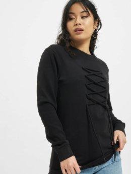DEF Swetry lace czarny
