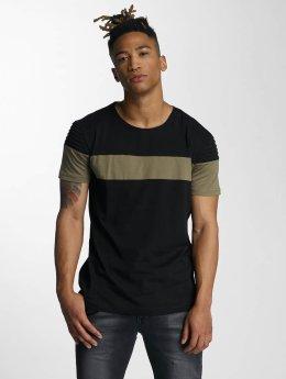 DEF T-paidat Stripe musta