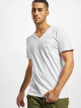 DEF T-shirt V-Neck bianco