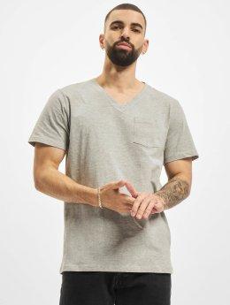 DEF T-shirt V-Neck grigio
