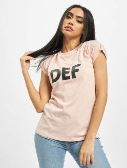 DEF T-shirt Sizza rosa chiaro