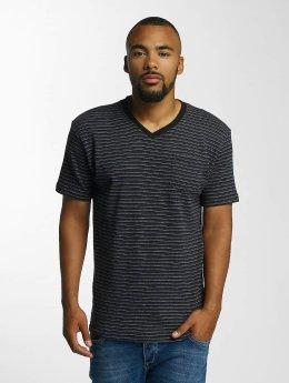 DEF T-Shirt Stripes schwarz