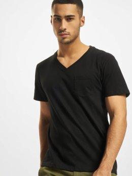 DEF T-Shirty V-Neck czarny