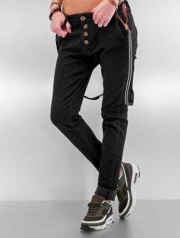 DEF Vaqueros Boyfriend Suspenders II negro