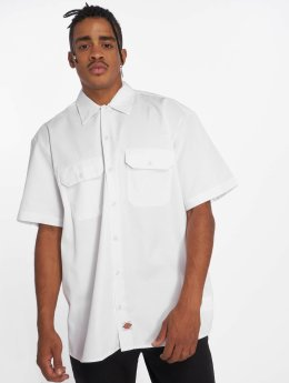 Dickies Camicia Shorts Sleeve Work bianco