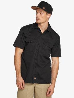Dickies Chemise Shorts Sleeve Work noir