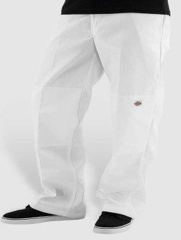 Dickies Chinot/Kangashousut Double Knee Work valkoinen