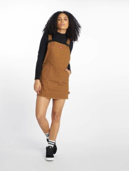 Dickies Dress Hopewell Denim Bib brown