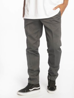 Dickies Látkové kalhoty Slim Fit Work šedá