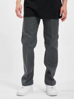 Dickies Látkové kalhoty Slim Straight Work  šedá