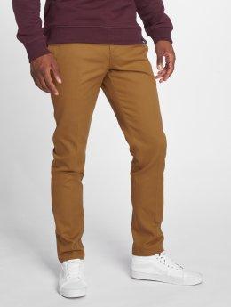 Dickies Látkové kalhoty Slim Fit Work hnědý