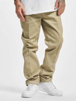 Dickies Látkové kalhoty Slim Fit Work hnědožlutý