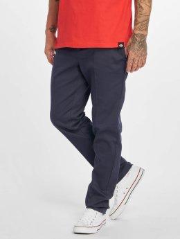 Dickies Látkové kalhoty Slim Fit Work modrý