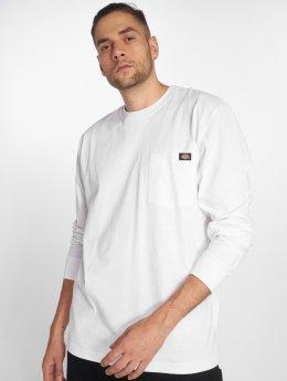 Dickies Maglietta a manica lunga Pocket bianco