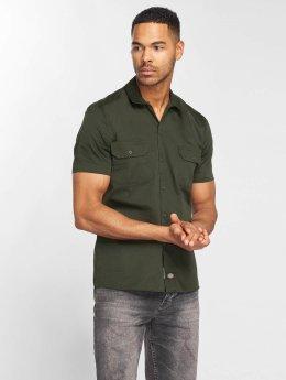 Dickies overhemd Short Sleeve Slim Work groen