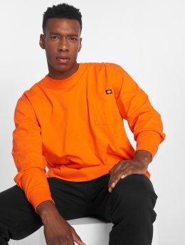 Dickies Pitkähihaiset paidat Pocket oranssi