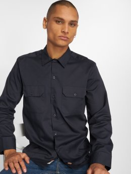 Dickies Longsleeve Slim Work Shirt Dark Navy