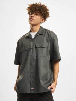 Dickies Shirt Shorts Sleeve Work  grey