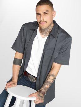 Dickies Skjorte Short Sleeve Slim Work grå