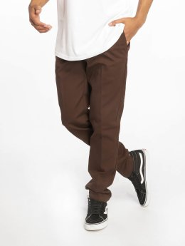 Dickies Spodnie wizytowe Slim Fit Work brazowy
