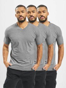 Dickies V-Neck T-Shirt 3 Pack Dark Grey Melange