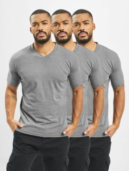 Dickies V-Neck T-Shirt 3 Pack Dark Grey Melange