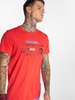 Diesel Camiseta T-Diego-Xb rojo