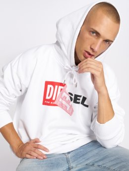 Diesel Felpa con cappuccio S-Alby bianco