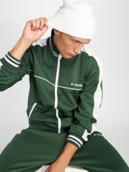 Diesel Hoodies con zip S-Roots verde