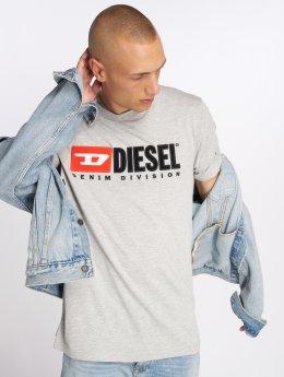 Diesel T-Shirt T-Just-Division grau