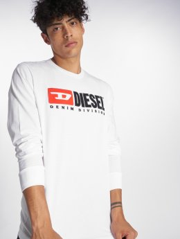 Diesel T-Shirt manches longues T-Just-Ls-Division blanc