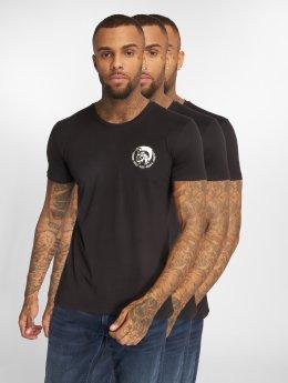 Diesel T-Shirt Umtee 3-Pack schwarz