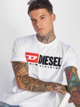 Diesel T-Shirt T-Just-Division weiß