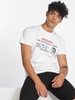 Diesel T-shirts T-Diego-Xb hvid